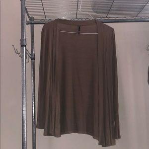 Brown cardigan
